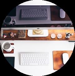Schreibtisch Von Oben 2021